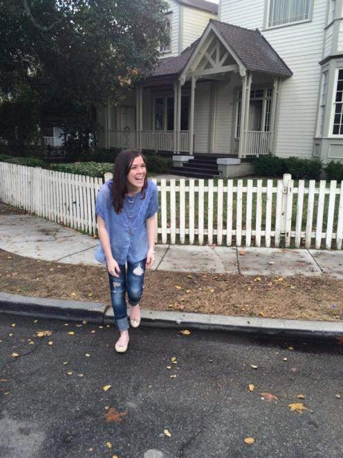 "Pure joy outside of the Seaver house (""Growing Pains"")."