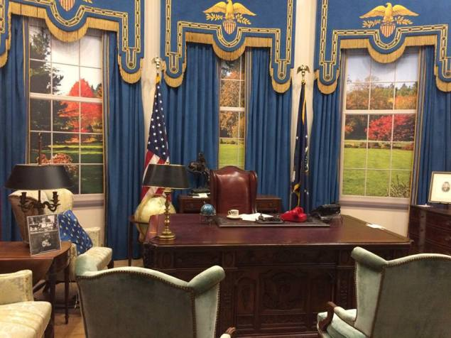 """Jed Bartlet's office from """"The West Wing""""."""