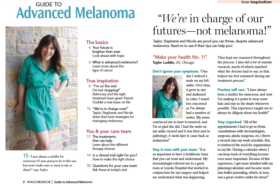 Taylor featured in Healthline Magazine.