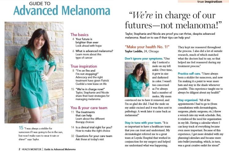taylor leddin melanoma