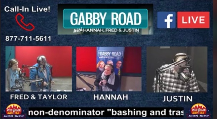 Taylor appears in-studio on Gabby Road Radio.
